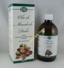 ESI OLIO DI MANDORLE DOLCI 500ml puro naturale integratore alimentare oil almond