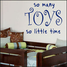 LARGE CHILDRENS BEDROOM PLAY ROOM TOYS BIG QUOTE GIANT WALL ART STICKER  DECAL