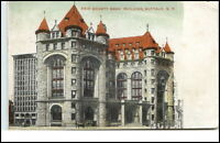 Buffalo New York  USA vintage postcard 1910  Erie County Bank Building
