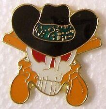 Hat Lapel Pin Tie Tac Western Cowboy Skull NEW