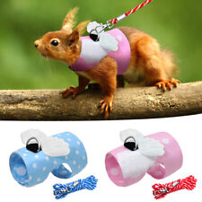 Pet Soft Small Harness With Leash Vest Lead for Hamster Rabbit Small Animal