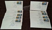 "10 Identical FDC 1969 Moon Landing 10 Cent Air Envelopes, FDC, 3 1/2"" x 8 1/2"""