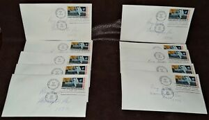 """10 Identical FDC 1969 Moon Landing 10 Cent Air Envelopes, FDC, 3 1/2"""" x 8 1/2"""""""