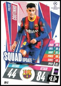 20/21 TOPPS MATCH ATTAX EXTRA SU41 COUTINHO BARCELONA SQUAD UPDATE CARD NEW