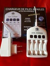 Chargeur de pile innovant, recharge les piles jetables Alcaline et rechargeable