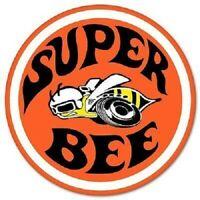 "Dodge Super Bee Car Styling Emblem Vinyl Sticker Decal 4 Pack of 2"" Round"