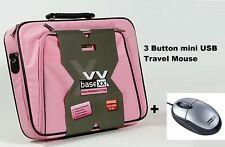 "Dicota Base Business Laptop Carry Case Notebook Shoulder Bag 17"" Pink +USB Mouse"