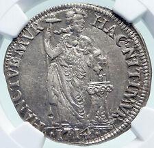 1714 NETHERLANDS Dutch Republic Holland Silver NGC Gulden Coin i86702