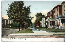 Louisville Kentucky KY -HOUSES ALONG 3rd AVENUE- Postcard