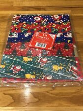 Vintage Christmas Wrapping Paper 10 x Sheets Assorted Never Used
