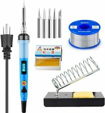 Soldering Iron Kit Electric Temperature 80w Solder Wire Tips Station Flux Paste