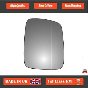 Right Side Stick On Wide Angle Wing Mirror Glass VW Transporter T4 90-2003 48RAS