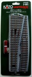 Kato ~ New 2021 ~ HO Scale #6 Powered Right Turnout UniTrack Switch ~ 2-861