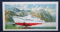 HYDROFOIL   Bergen Stavanger Ferry    Vintage 1960's Colour Card