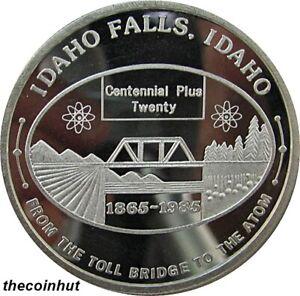 1 oz. Sunshine Mint 999 Fine Silver Rare Idaho Falls 1865-1985 Centennial CH5181