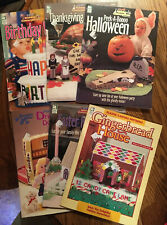 Lot Of 6 Plastic Canvas Holiday Projects Booklets Patterns