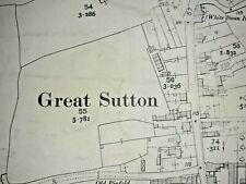 OLD ORDNANCE SURVEY MAP BIDSTON 1898 WALLASSEY POOL ILCHESTER ROAD REEDS FARM