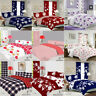8PCs BUMPER DUVET COVER WITH PILLOW CASES QUILT COVER BEDDING SET SHEET CURTAINS