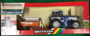 VINTAGE BRITAINS FARM 9382 POWERFARM FORD TW-35 TRACTOR & MANURE SPREADER MIB