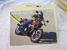 NOS Honda 1984 VT500 ASCOT  DEALER SALES BROCHURE