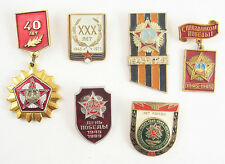 Lot of 6 Russian Soviet Pins Badge Victory Day USSR