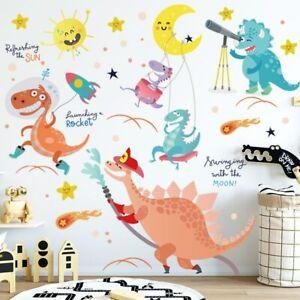 Huge Wall Stickers Dinosaur Kids Room Decoration Cartoon Girl Boy Bed Room Decal
