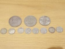 More details for british silver coins joblot half crowns florin and 3 pences