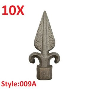 """10x CAST IRON FENCE FINIALS - Style 009A - Various Fitments 1/2"""" 5/8"""" 3/4"""""""