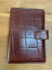 Brown leather Microfile organiser (filofax style)