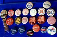 Lot 21 Vtg NEA National Education Association Pin Button Political Mondale Rare