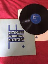 New Order  vinyl lp movement 1981 fact 50 sleeve ex- inner First Press Ex
