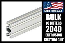 BULK! 10 Meters Custom Cut to Length 2040 Series Aluminum Extrusion, 6mm T-Slot