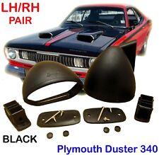 1970-1976 PLYMOUTH DUSTER 340 BULLET BLACK MIRROR PAIR RH LH RETRO CLASSIC
