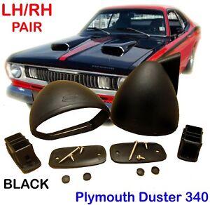 PLYMOUTH DUSTER 340 BULLET 1970-1976 BLACK MIRROR PAIR RH LH RETRO CLASSIC