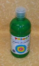 COLORE A TEMPERA PRIMO Alta Qualità 630 VERDE SCURO 500 ml cod.18467
