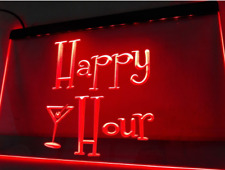 Led Neon Light Happy Hour Pub Cafe Sign Advertise Decor Home Listed