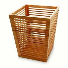 Bamboo Bathroom Bin, Waste Basket H 32cm