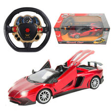 1/14 RC Remote Control Open Doors Turbo Convertible Car Sound Light Kid Toy Gift
