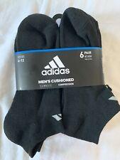 Adidas Climalite mens socks Black Running Athletic No Show Size 6 7 8 9 10 11 12