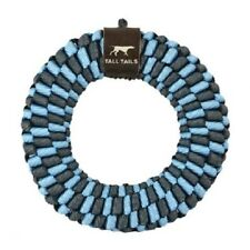 Tall Tails 6 in BRAIDED RING Dog Toy BLUE