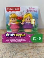Fisher Price Little People Disney Princess AURORA & RAPUNZEL Figure 2-Pack