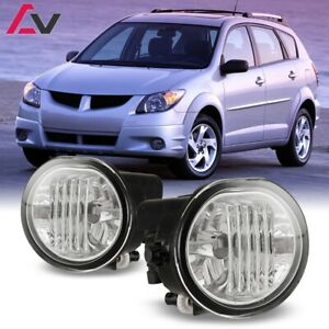 03-08 For Pontiac Vibe Clear Lens Pair Bumper Fog Light Lamp OE Replacement DOT