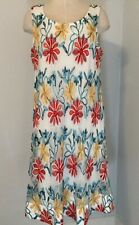 Signature By Robbie Bee Dress Size L Women's Red Turquoise Mash Floral