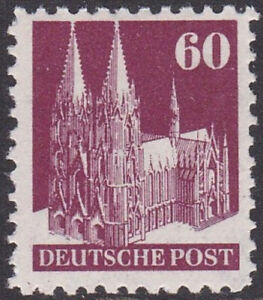 1948 BRIT. & AMERICAN ZONES COLOGNE CATHEDRAL 60pf TYPE II MNH SG A128b Cat £150
