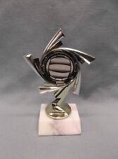 volleyball trophy ball insert silver and gold style marble base
