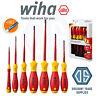 Wiha 41156 SlimFix 7 Piece VDE 1000v Slot/Pozi Screwdriver Set + Free Voltstick