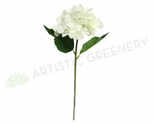 NEW Artificial Flowers/Plants F0139N Hydrangea Stem Real Touch 104cm White
