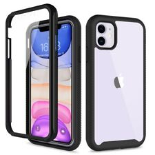 360 Full Body Hybrid Clear Shockproof Case For iPhone 11 XR XS 7 8 SE 2020 Cover