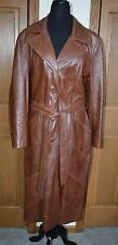 VTG Women's 24K GLACE Lambskin Leather Trench Coat Size 16 DAN DI MODES USA
