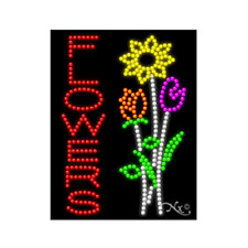 "New ""Flowers"" 26x20 Logo Solid & Animated Led Sign W/Custom Options 20459"